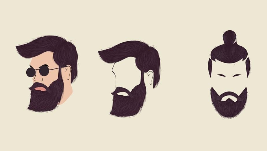 Illustrations of different beard style for men